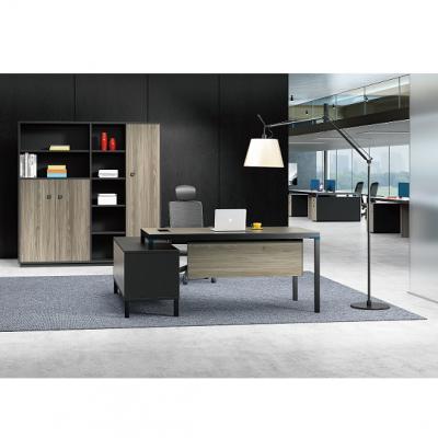 钢木班台|板式经理桌|主管办公桌