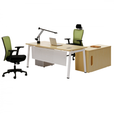 天津钢木家具|简约钢木办公桌